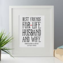 Personalised Best Friends for Life Husband and Wife Framed Print