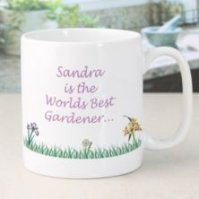 Personalised Best Gardener Mug