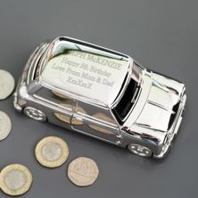 Personalised Silver Plated Mini Money Box