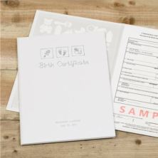 Personalised Birth Certificate Holder