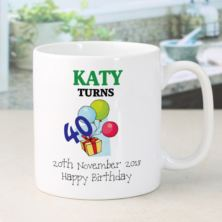 Happy Birthday Personalised Mug