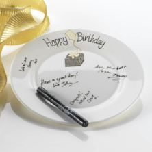 Birthday Celebration Signing Plate