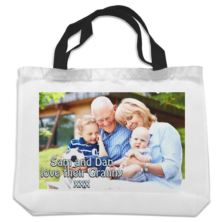 Personalised Black Handled Shopper