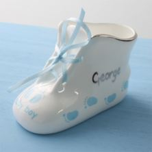 Personalised Baby Boy Fine Bone China Bootie