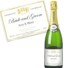 Bride and Groom Personalised Champagne