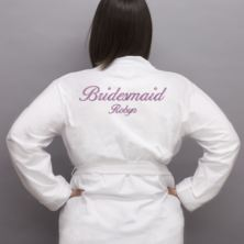 Personalised Embroidered Bridesmaid Dressing Gown