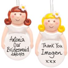 Bridesmaid Personalised Hanging Ornament