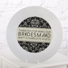 Personalised Bridesmaid Plate