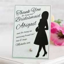 Bridesmaid Personalised Glass Plaque