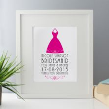 Personalised Bridesmaid Framed Print