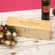 Personalised Bridesmaid Luxury Wooden Wine Box