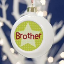 Personalised Brother Christmas Bauble