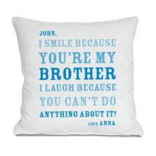 Personalised Brother Smile Cushion