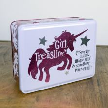 Girl Treasures Unicorn Tin