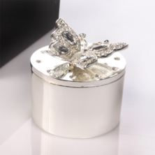 Engraved Butterfly Trinket Box