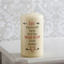 Personalised Catch Your Heart Candle