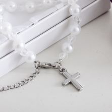 On Your Special Day Pearl Bracelet With Cross