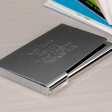 New Yorker Engraved Business Card Holder