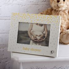 Bambino Gold Dots Baby Shower Photo Frame
