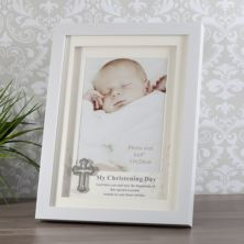 My Christening Day Box Frame With Silver Cross