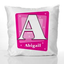 Personalised Girl's Initial Cushion