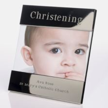 Engraved Christening Photo Frame