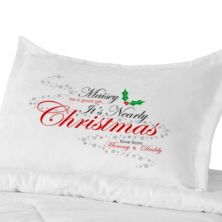 Personalised Be Good It's Nearly Christmas Pillowcase