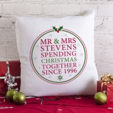 Personalised Spending Christmas Together Cushion
