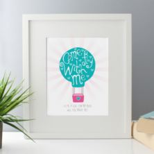 Come Fly With Me Personalised Framed Print