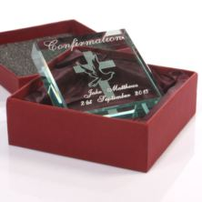 Confirmation Day Engraved Glass Keepsake