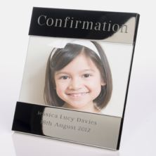 Engraved Confirmation Photo Frame