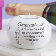 Congratulations Tea Light Holder