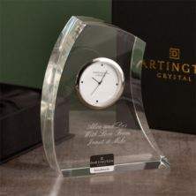 Dartington Personalised Crystal Crescent Clock