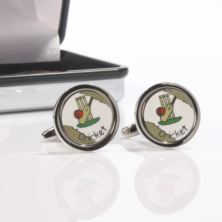Personalised Cricket Set Cufflinks