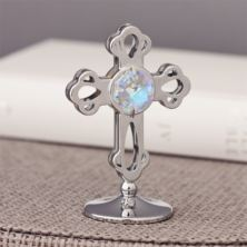Crystocraft Silverplated Cross Ornament With Swarovski Crystal