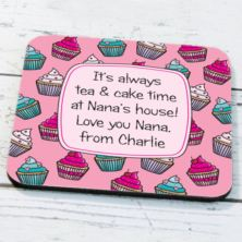 Personalised Cupcake Coaster