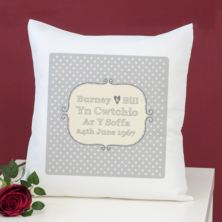 Cwtching On The Sofa / Cwtchio ar y Soffa Personalised Cushion