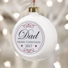 Personalised Dad Christmas Bauble