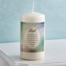 Personalised Birthday Wishes Dad Candle