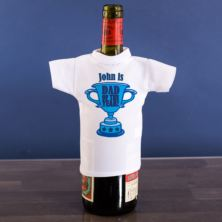 Dad of the Year Personalised Wine Bottle T-shirt
