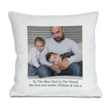 Personalised Photo Cushion For Dad