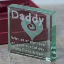 Engraved Daddy Glass Keepsake