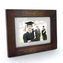 Engraved Graduation Class Of Dark Oak Wooden Photo Frame
