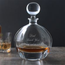 Engraved Orbit Crystal Decanter