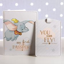 Disney My 1st Passport Holder And Luggage Tag Set