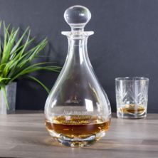 Personalised Bubble Base Teardrop Decanter