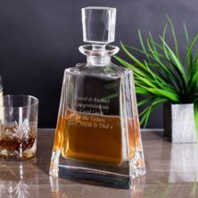 Engraved Boston Wide Decanter
