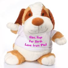 Extra Large Personalised Puppy Soft Toy