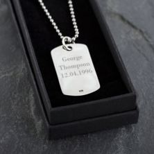 Personalised Sterling Silver ID Tag Necklace