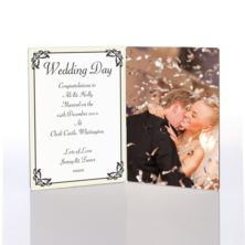 Wedding Day Photo Message Plaque